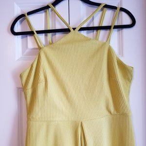ASOS Dresses - ASOS lime green ribbed dress